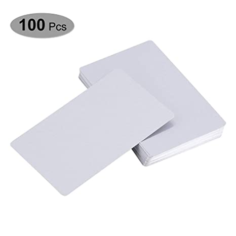 Amazon.com: 100 tarjetas de sublimación en blanco de metal ...