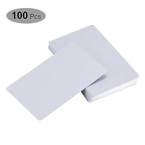 Amazon.com: 100 tarjetas de sublimación en blanco de metal ...