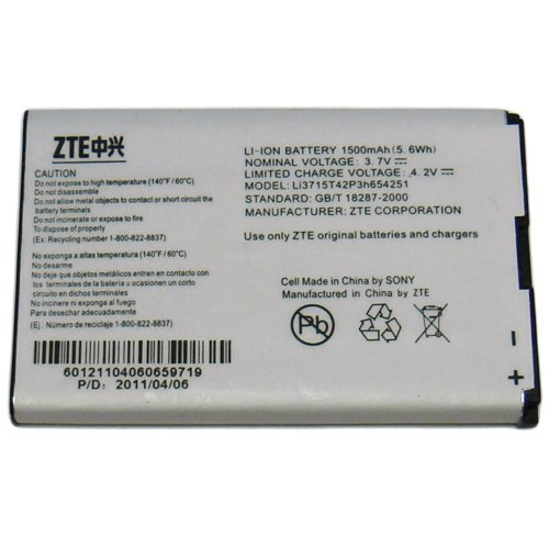 ZTE-4G-Mobile-HotSpot-ZTE-MF61-Battery-Li3715T42p3h654-251-Non-Retail-Packaging-White