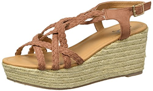 - Qupid Women's Espadrille Wedge Sandal, Cinnamon, 5.5 M US