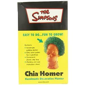 Chia Homer Handmade Decorative Planter, The Simpsons, 1 Kit
