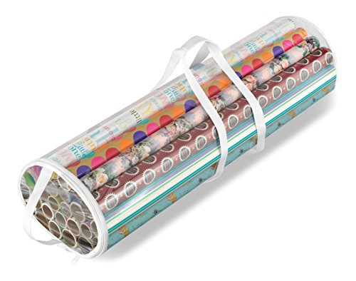 Clear Wrapping Paper Organizer