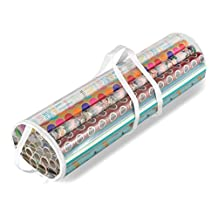 Whitmor 6044-4924 Gift Wrap Organizer, Clear