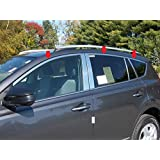 Pillar Posts and Window Sills Full Package WP29113 QAA fits 2009-2013 Toyota Corolla 16 Piece Stainless Window Trim Package Includes Upper Trim