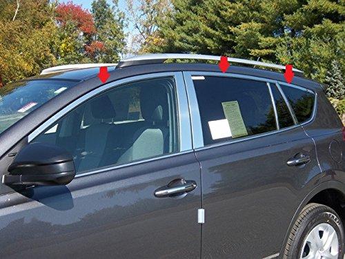 (QAA FITS RAV4 2013-2018 TOYOTA (6 Pc: - Stainless Steel Window Trim Package NO pillar trim, 4-door, SUV) WP13181)