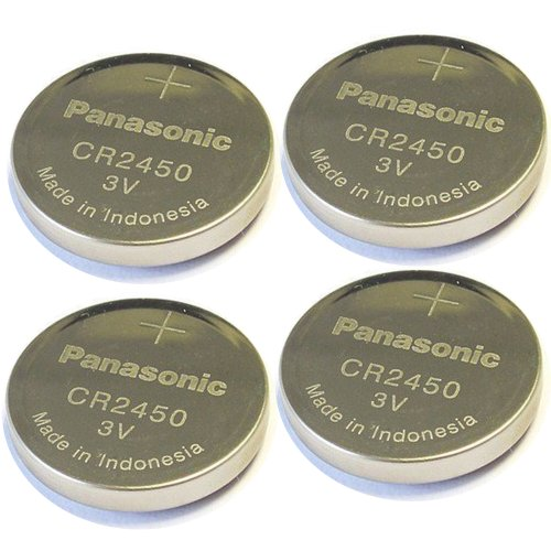 - 4pcs Panasonic Cr2450 3v Coin Lithium Battery, REMOTE KEYLESS ENTRY TRANSMITTER FOB Battery