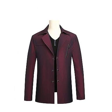 KT&Jacket Primavera Otoño Poliéster Slim Fit Thin St Button Hombre Chaqueta Casual Hombres Corta Chaqueta Cortaviento Chaquetas Abrigo: Amazon.es: Ropa y ...