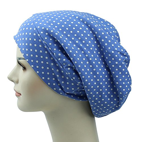 - Smooth Fabric For Frizzy Hair Protecting Long tail Cap Gifts For Girls Summer Cotton Cap