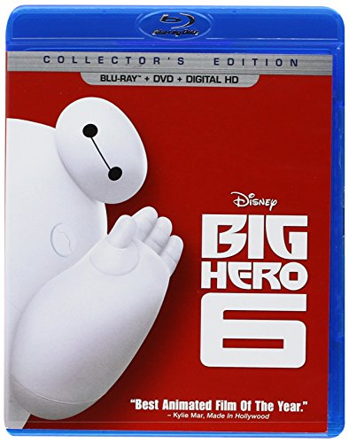 Big Hero 6  (Blu-ray + DVD + Digital HD) (Disney Movie Big Hero 6)
