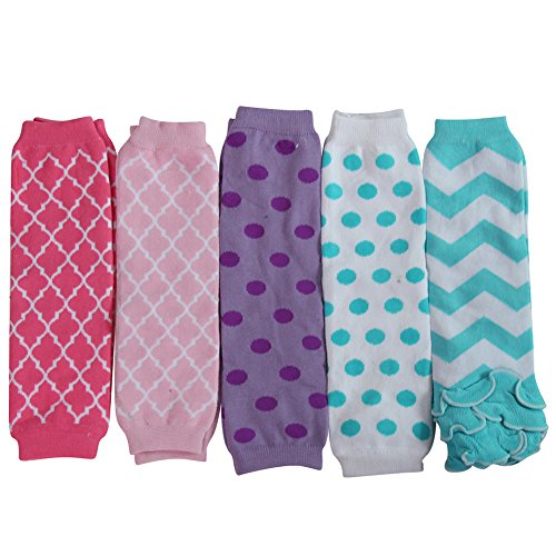 Value Multi Pairs Girls Princess Leg Warmer Collection (5 Pairs, Chevron, Dots & Stripes) (Pair Halloween Costume Ideas)