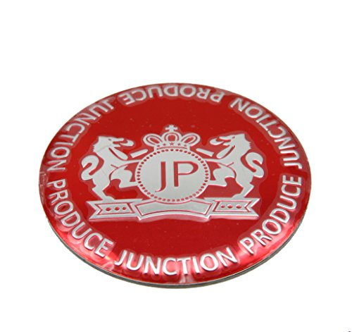 JUNCTION PRODUCE RED 56.5mm Car Wheel Hub Caps Center Stickers Emblems Cambered Surface G055 4PCS