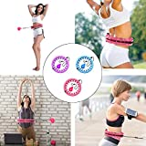 NGC-C Smart Hula Hoops for Adults Kids Beginners do not Fall,24 Knots, Abdomen Fitness Increase Beauty, 2 in 1 Fitness Weight Loss and