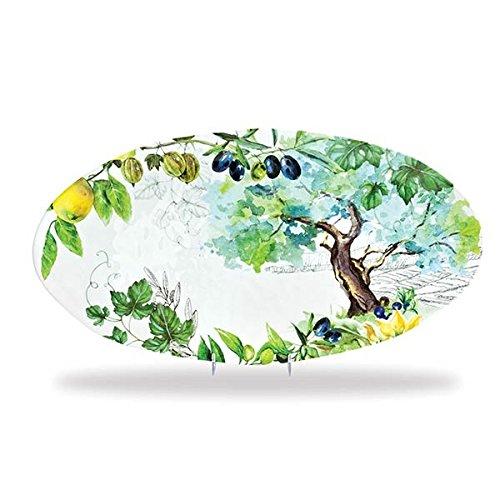 Melamine Oval Serving Platter (Michel Design Works Melamine Oval Serving Platter, Campagna)