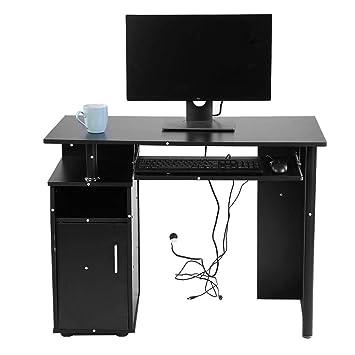GOTOTOP Ordenador Mesa Escritorio Mesa Oficina Mesa pc de Mesa con ...
