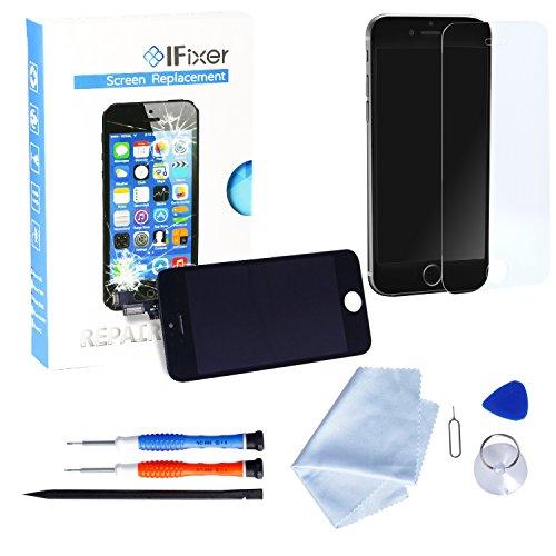 IFixer iPhone 6 LCD Display Bildschirm Ersatz Touchscreen Front Glas Ersatzteile-Set Werkzeugset inklusive Digitizer-Professionell Reparatur-Flussdiagramm Schwarz