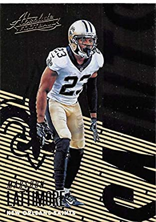 2018 Absolute Football  70 Marshon Lattimore New Orleans Saints Official  NFL Trading Card made by b16042c43