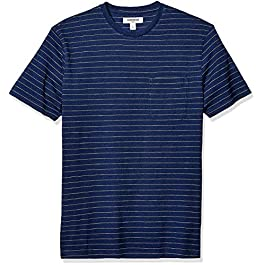 Men's Short-Sleeve Indigo Crewneck Pocket T-Shirt