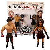Jakks Pacific Year 2008 World Wrestling Entertainment WWE Adrenaline 2 Pack 7 Inch Tall Figure - THE MIZ and LAYLA with Cowboy Hat and Microphone