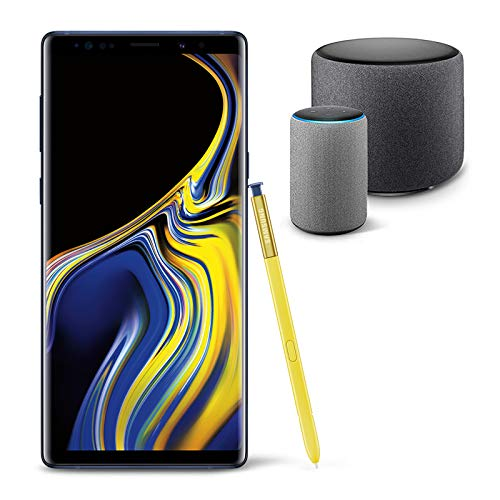 Samsung Galaxy Note 9 Unlocked Phone 512GB, Ocean Blue with Echo Sub and Echo (2nd Generation) - Smart speaker with Alexa
