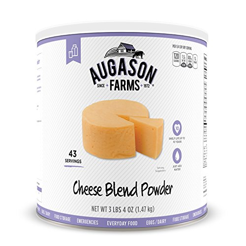 Augason Farms Cheese Blend Powder Certified Gluten Free Long Term Food Storage Everyday Meal Prep Large Can ()