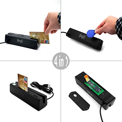 Zcs160 Usb Pscs 4 In 1 Magnetic Card Reader   Emv Chip   Nfc   Psam Card Reader Writer Only For Apdu Command Professional Person