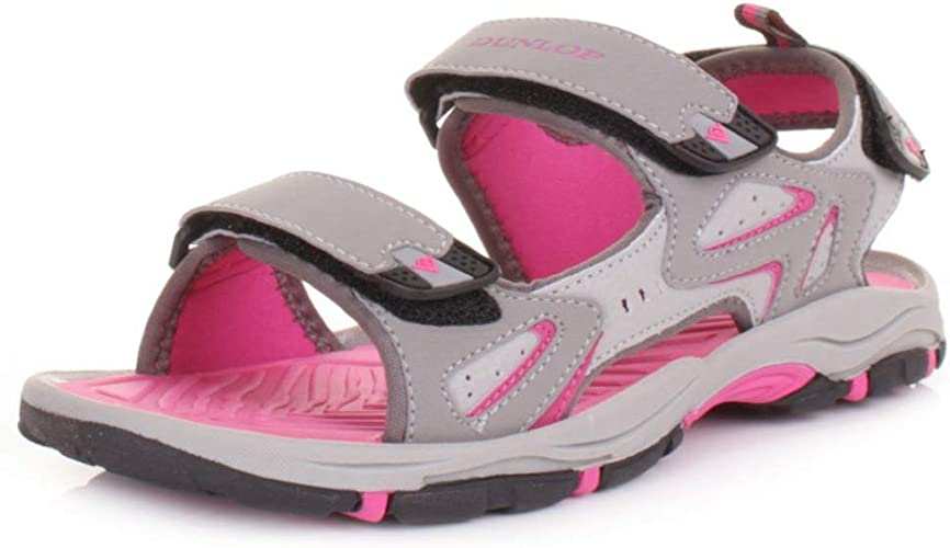 New Ladies Dunlop Flat Open Toe Velcro