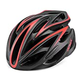 Gonex Adult Bike Helmet, Lightweight Adjustable Cycling Helmet L Black