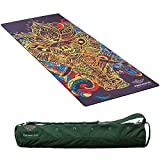 NIRVANA Pro YOGA MATS , 72″ X 26″ large and 4.5mm thick , Body Alignment system , Beautiful & Inspiring designs , Non Slip Fabric Enhances Grip with Sweat , Eco Friendly , Bag Included Review