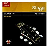 Stagg AC-1048-BR Acoustic Guitar String Set, Extra-Light, Bronze