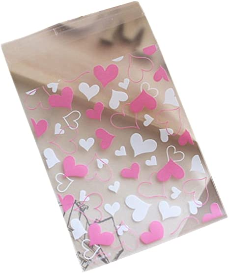 100pcs Cookie Candy Package Gift Bags Cellophane Self Adhesive Bags