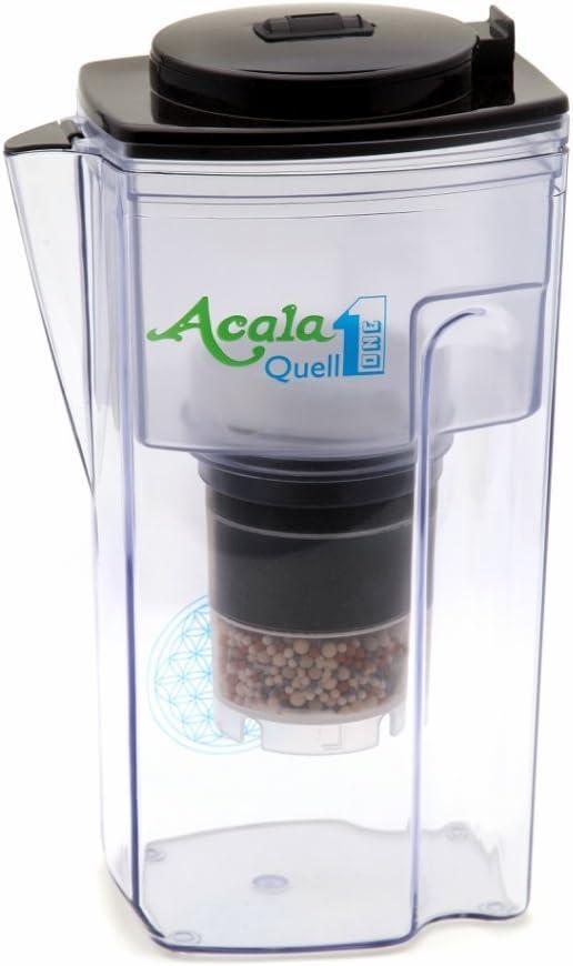 Filtro de agua AcalaQuell One | Jarra con filtro de agua | Negro ...