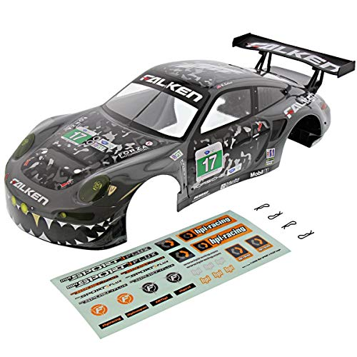 HPI 1/10 RS4 Sport 3 Flux 4WD FALKEN PORSCHE 911 GT3 GRAY BODY Shell Cover