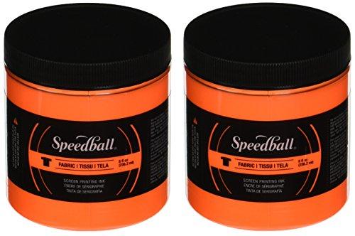 Speedball Screen Prtg Ink 8oz Fluorescent Orange