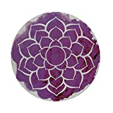 iPrint Cotton Linen Round Tablecloth,Purple Mandala,Watercolor Lotus Flower Yoga Meditation Zen Boho Style Painbrush Artwork Decorative,Fuchsia White,Dining Room Kitchen Table Cloth Cover