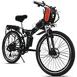 "26"" 21 Speed, 48V 240W 12AH Lithium Battery Mountain Bike, Folding Electric Bicycle, Electric Bike, MTB E Bike With Magnetic Ring Power Sensor"