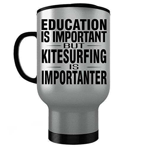 Ozone Kite Harness - KITESURFING Stainless Steel Travel Mug - Good for Gifts - Unique Coffee Cup Accessories Equipment
