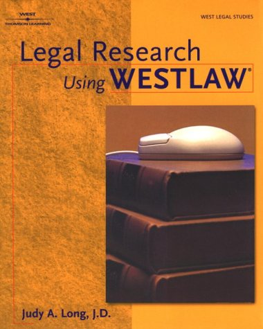 Legal Research Using Westlaw