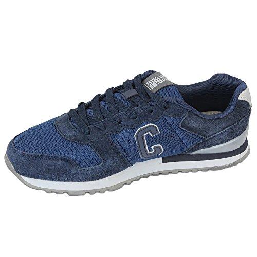 Herren Sportschuhe Crosshatch Sneakers Schuhe mit Schnürsenkel Wildleder Rennschuhe Netz Designer Neu Marienblau - HADDEN