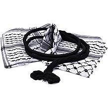 Arafat arab scarf shawl Keffiyeh Kafiya shemagh desret palestine + Igal Agal set by Zuluf HLG014