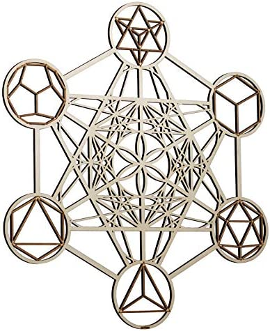 ZenVizion 25″ Metatron's Cube Wall Decor Mandala