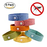LIVEHITOP Natural Mosquito Repellent Bracelets 6 Packs, 100% All Natural Plant-Based Oil, Non-Toxic Travel Insect Repellent, Soft Fiber Material For Kids & Adults, Keeps Insects & Bugs Away