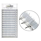 LASHVIEW Pandora Cluster 0.07mm C Curl 12mm 5D Volume Eyelash Extension Professional Natural Long Rapid Cluster Lashes Pre-fanned Volume Eyelash c curl Pro Granting knot free lashes cluster