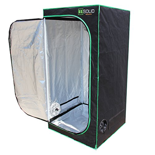 "$69.99 indoor grow tent cheap U.S. Solid Grow Tent- 32""x32""x64"" Hydroponic Grow Room Tent with High Strength Mylar Lined Fabric and a Strong Zipper, Keeps Odors from Getting Out and Pests from Getting in, a Product 2019"