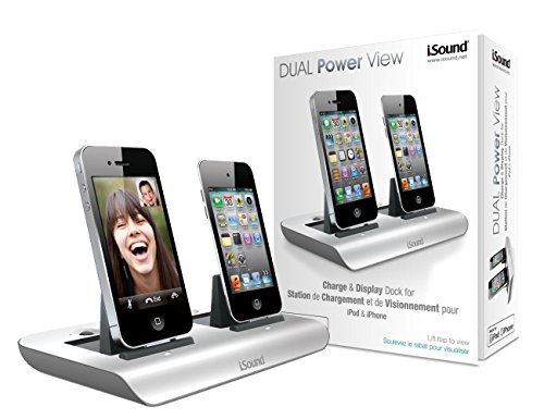 iSound Dual Power View Charging Dock for iPhone 4 / iPhone 4S / iPhone 3GS / iPhone 3G / iPod Touch (4th generation) / iPod Touch (3rd generation) / iPod Touch (2nd generation) / iPod Touch (1st generation) / iPod Nano (6th generation) / iPod Nano (5th generation) - White