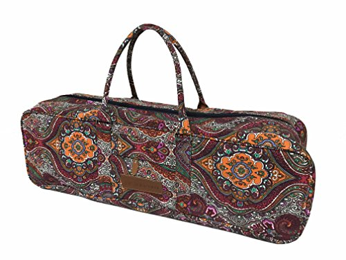 Aozora Yoga Mat Bag with Pocket and Zipper - Patterned Canvas - Extra Large (Celestial)