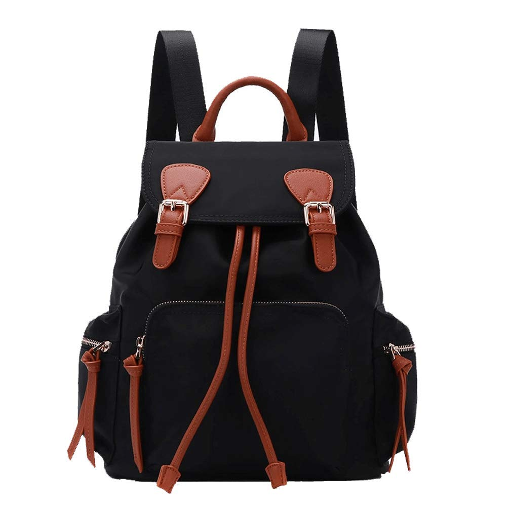 Blackbrown Waterproof, Wearable and Durable Black Lady Backpack Fashion Shoulder Bag Shoulder Bag Portable Oxford Cloth Large Capacity Travel Backpack Leisure Backpackblackbrownblack