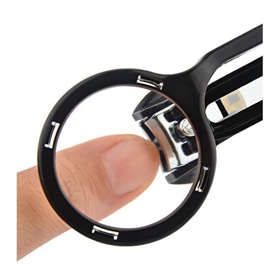 Nail Cliper Cutter with Magnifying Glass