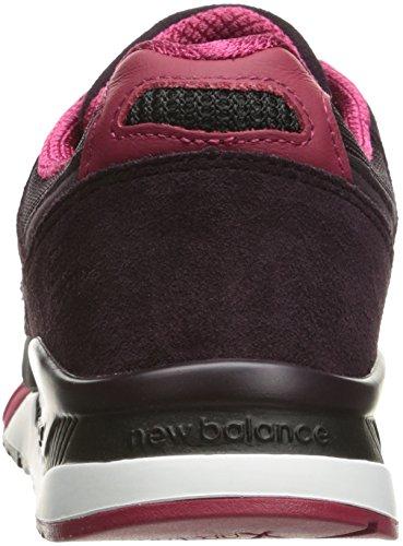 New Balance Mens M530Classic Run Bionic Boom Fashion Sneaker, Black/Blackberry/Red, 7 D US