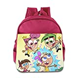 Toddler Kids The Fairly Oddparents School Backpack Cartoon Children School Bags Pink