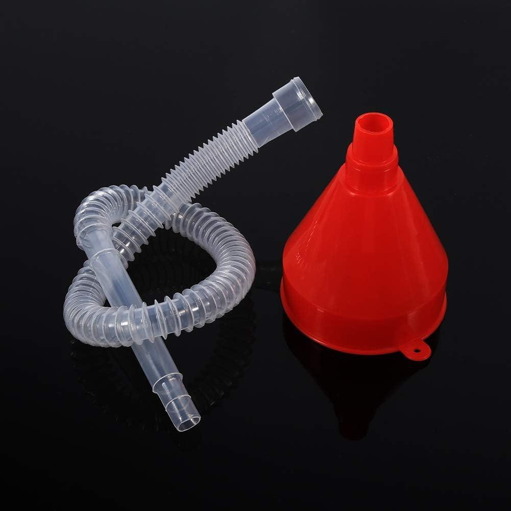 Kunststoff-F/ülltrichter-Universalfahrzeug Kunststoff-F/ülltrichter mit weichem Rohrauslauf Pour Oil Tool Benzin Diesel